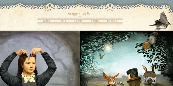 Maggie Taylor, Website Background Designs, Trends and Resources