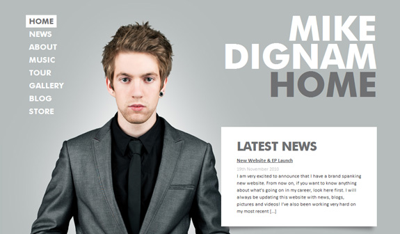 Mike Dignam, Website Background Designs, Trends and Resources