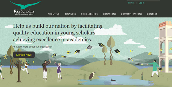 Riz Scholars, Website Background Designs, Trends and Resources