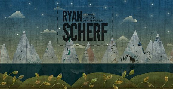 Ryan Scherf, Website Background Designs, Trends and Resources