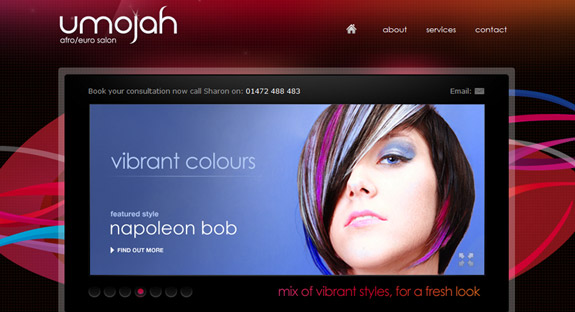 Umojah Hair, Website Background Designs, Trends and Resources