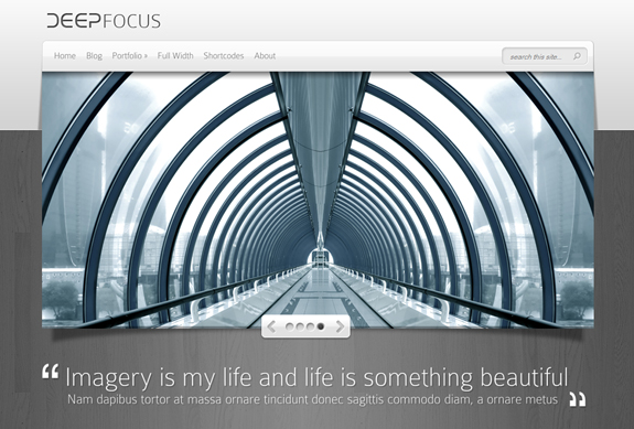 DeepFocus, WordPress Gallery of Photography Themes