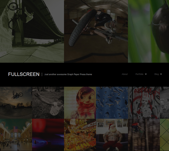 FullScreen, WordPress Gallery of Photography Themes