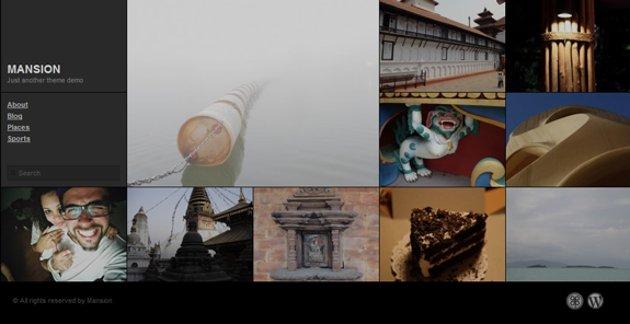 Mansion, WordPress Gallery of Photography Themes
