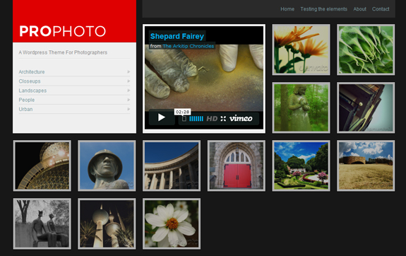 ProPhoto, WordPress Gallery of Photography Themes