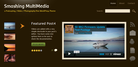 Smashing Multimedia, WordPress Gallery of Photographer Themes
