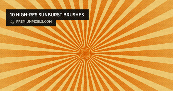 10 High Resolution Sunbrust Brushes