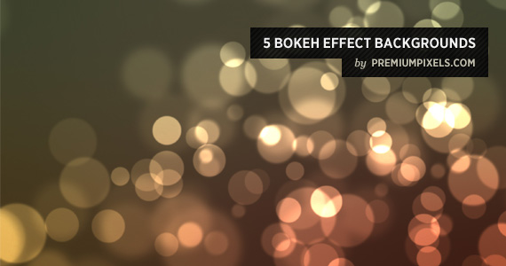 5 Bokeh Effect Backgrounds