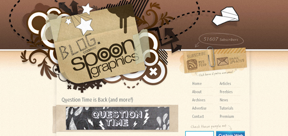Blog Spoon Graphics, Unique Blog Header Designs