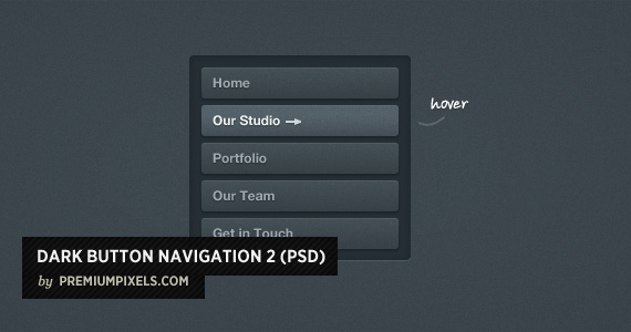Dark Button Navigation 2