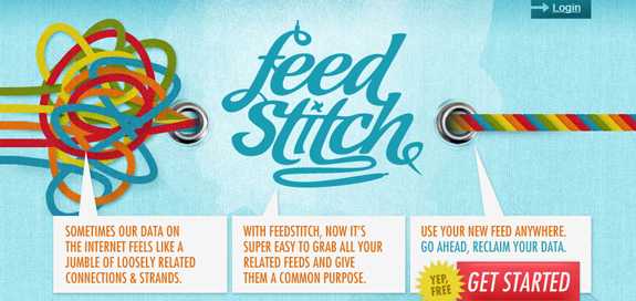Feed Stitch, Unique Blog Header Designs