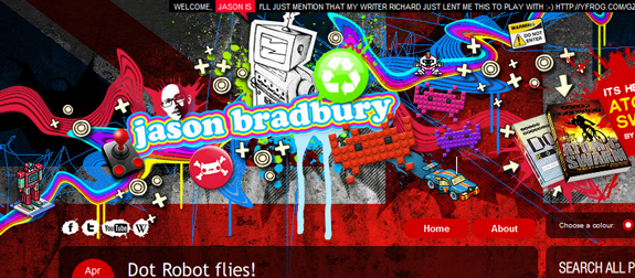 Jason Bradbury, Unique Blog Header Designs