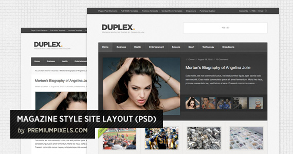 Magazine Style Site Layout Psd
