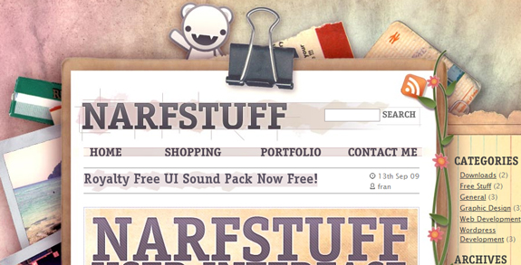 Narf Stuff, Unique Blog Header Designs
