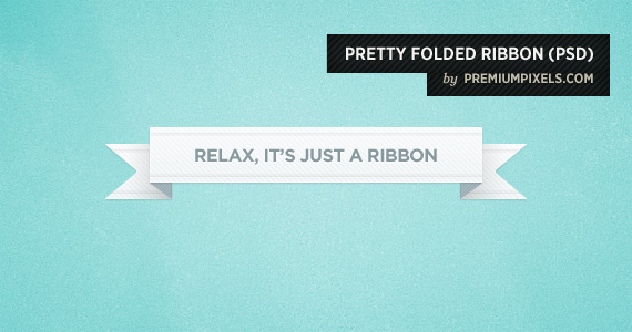 Pretty Little Folded Ribbon Psd