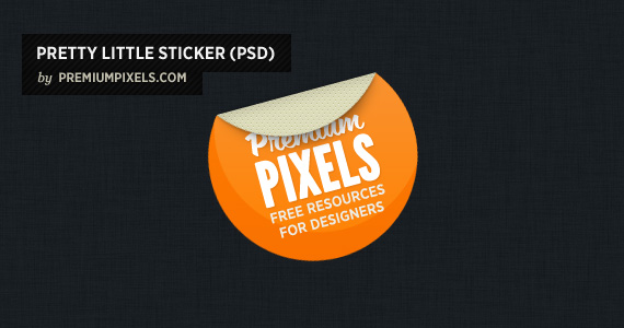 Pretty Little Sticker PSD