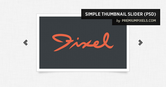 Simple Thumbnail Slider Psd