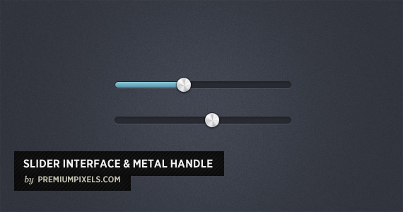Slider Interface Metal Handle PSD, Open Source Web Design Resources