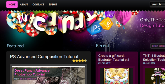 Tut Candy, Unique Blog Header Designs