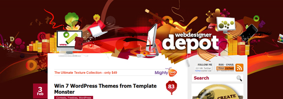 Web Designer Depot, Unique Blog Header Designs