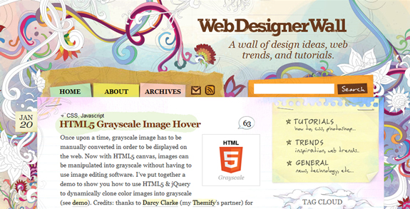 Web Designer Wall, Unique Blog Header Designs