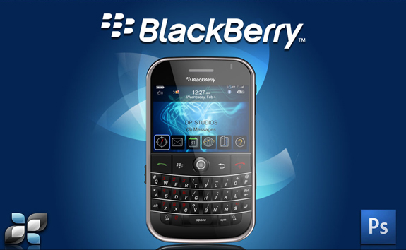 Blackberry PSD Template