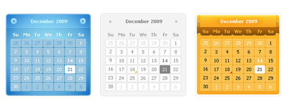 Calendar Designs in PSD
