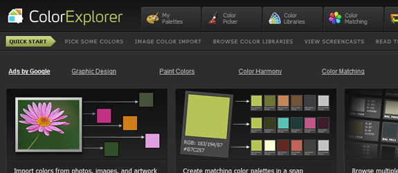 Color Explorer, Useful Sites for Web Designer and Developers