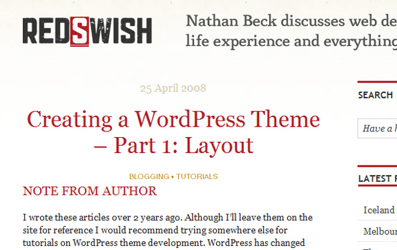 Creating WordPress Theme Layout