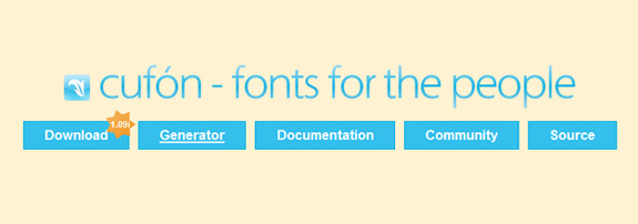 Cufon, Custom Web Fonts