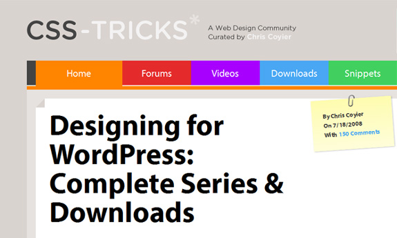 designing for wordpress complete series downloads WordPress Theme Development Tutorials