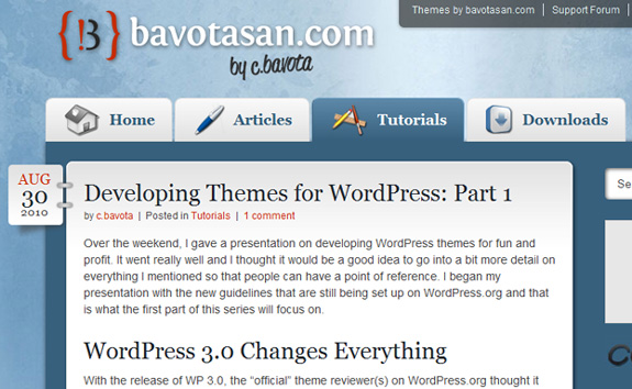 Developing Themes For WordPress