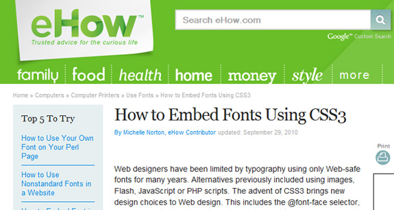 How to Embed Fonts Using CSS3