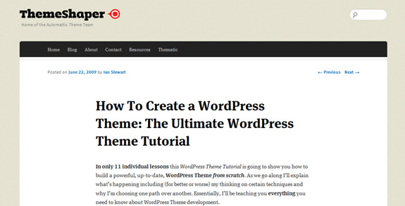 how to create wordpress theme WordPress Theme Development Tutorials