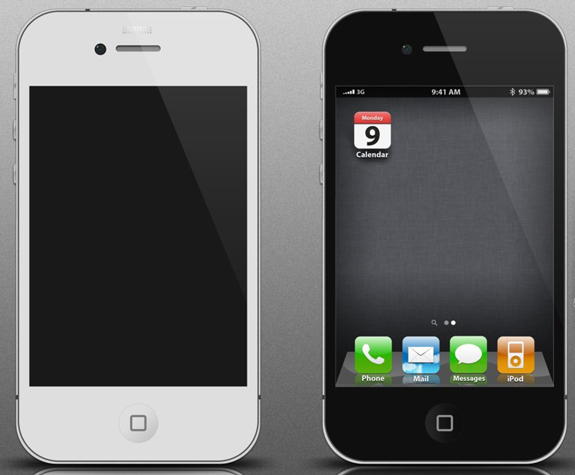 iPhone 4G UI PSD Template
