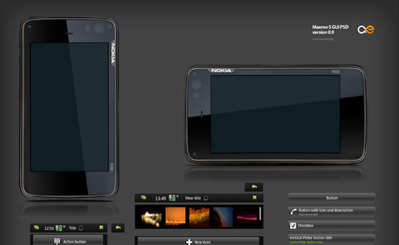 Maemo PSD Template