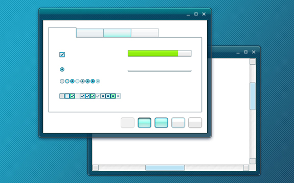 Turquoise PSD Template