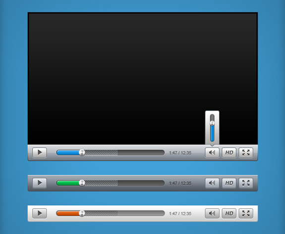 Video Player PSD Template For Designers