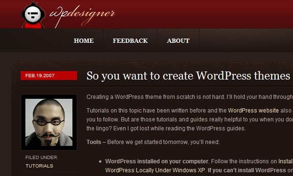 you want to create wordpress themes WordPress Theme Development Tutorials