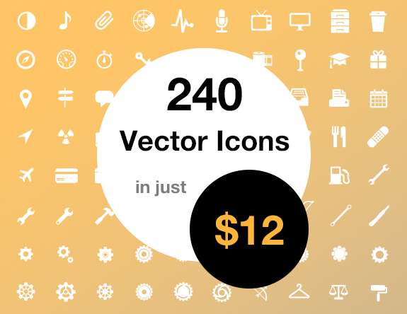 240 Vector Icons Pack Download