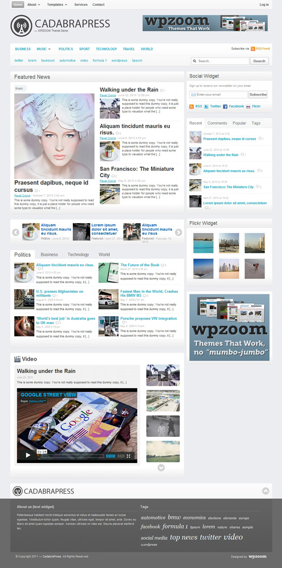 Cadabra Press, WordPress Magazine Theme