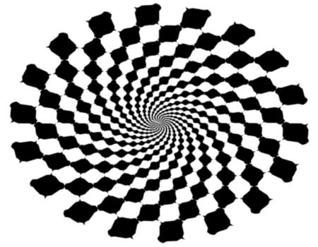 Zig Zag Optical Illusion