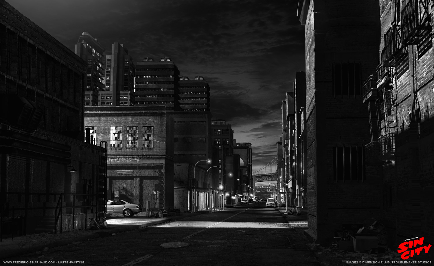 Sin City, Matte Painting