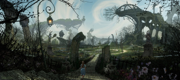 Alice in Wonderland, Matte Painting