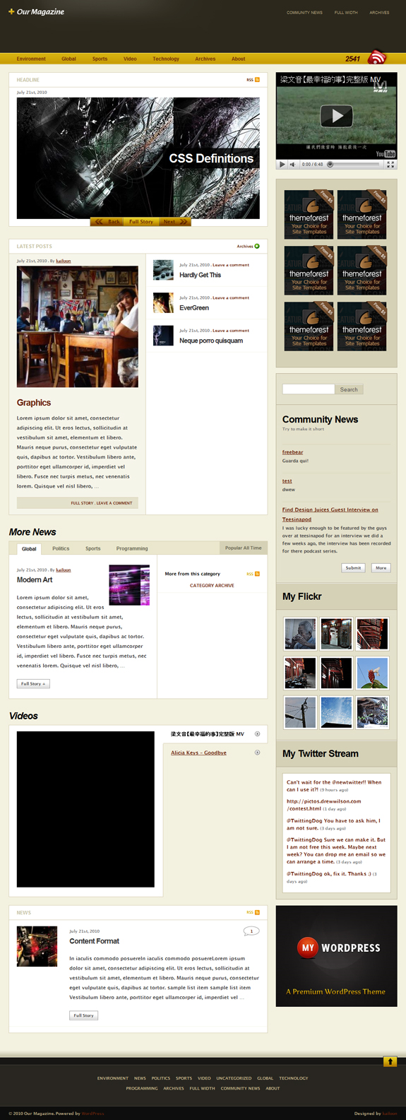Our Magazine, WordPress Magazine Themes