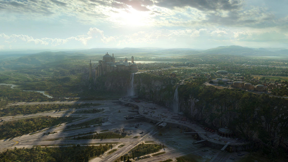 Star Wars Episode III, Matte Painting