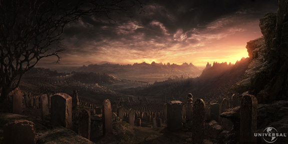 The Chronicles of Reddick, Matte Painting