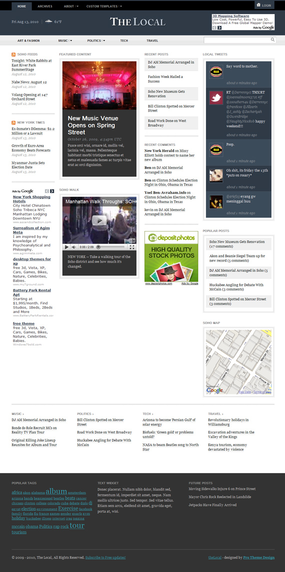 The Local, WordPress Magazine Theme
