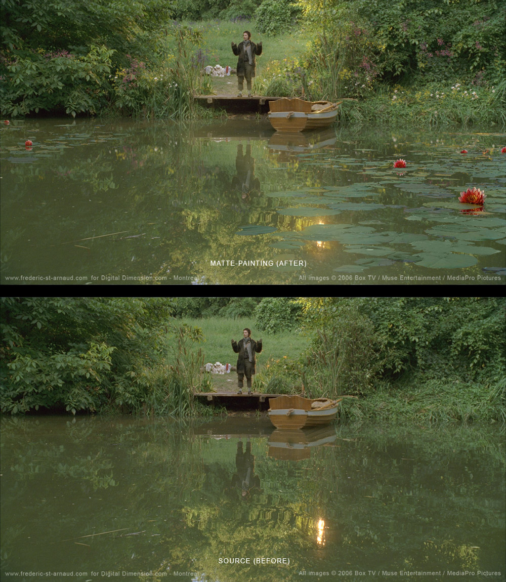 Wind in Willows, Nenuphars Lake Matte Painting