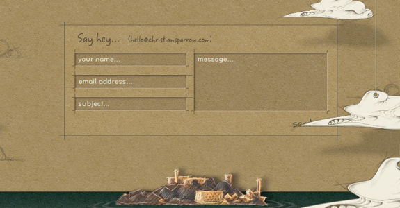 Christian Sparrow, Contact Page Design